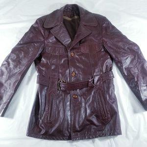 Jackets & Blazers - LEATHER JACKET WITH BELT